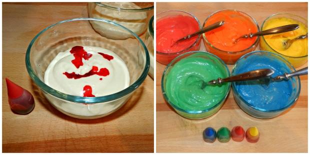 rainbow cupcake batter 2