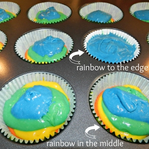Rainbow Cupcakes I Pretty Little Pastimes