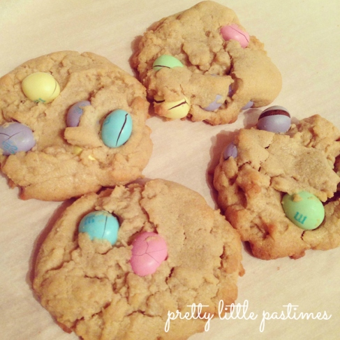 Double Peanut Butter M&M's Cookies I Pretty Little Pastimes