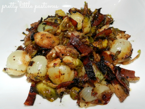 Roasted Balsamic Brussel Sprouts & Pearl Onions I Pretty Little Pastimes
