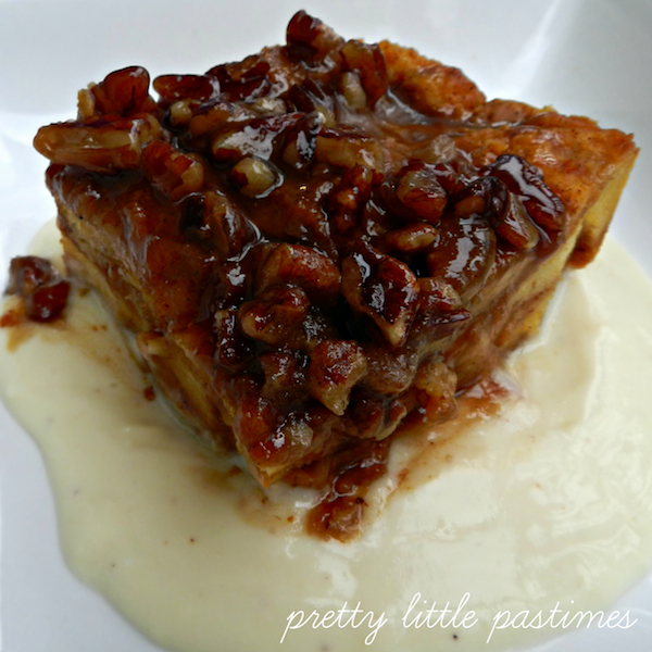Sweet Potato Bread Pudding With Pecan Streusel & Whiskey Sauce Recipe ...