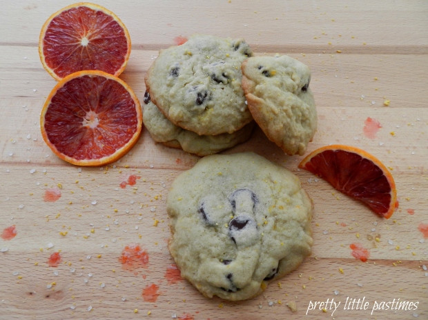 Blood Orange, Salted-Dark Chocolate Chip Cookies